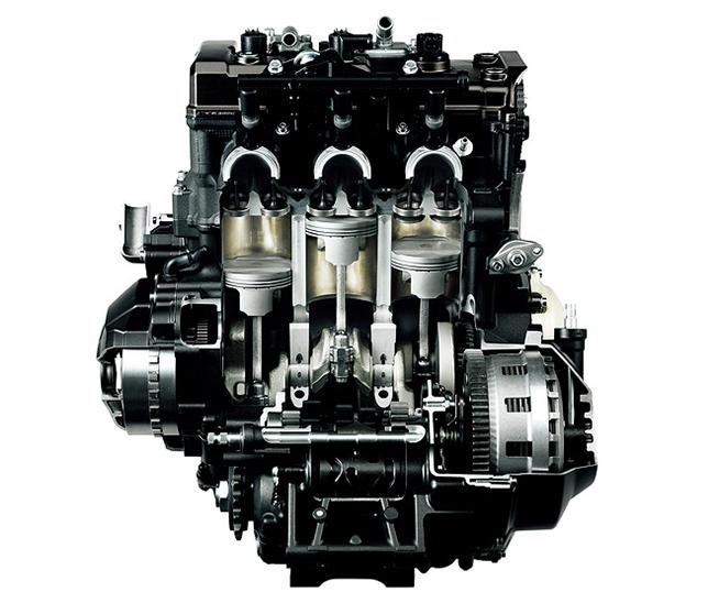 水冷DOHC··系列3缸,裝四氣門燃油直噴發動機