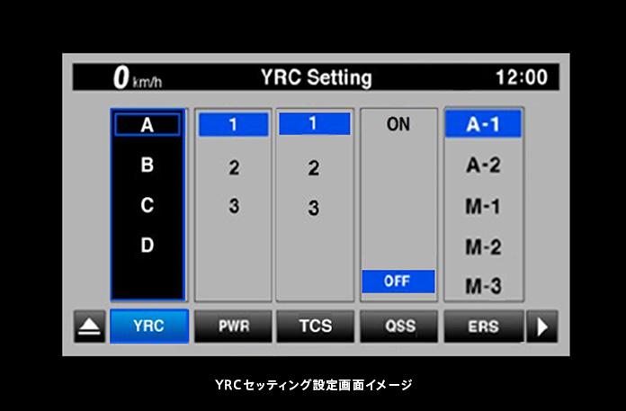YRC(ヤマハ・ライド・コントロール)セッティング