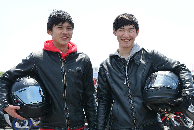 静岡から駆けつけてくださった18歳会社員(左)と20歳の学生(右)オーナーさん