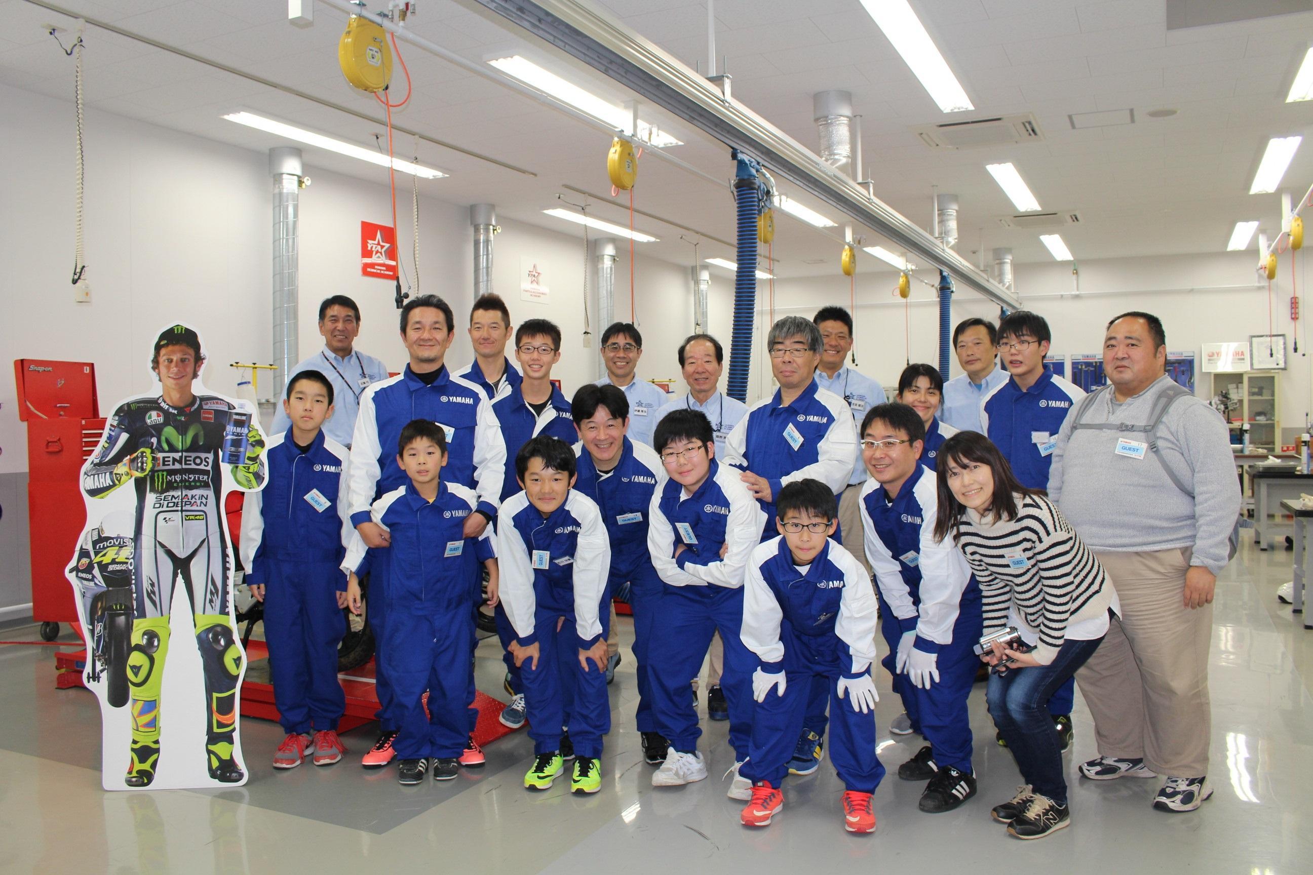 みなさん、こんにちは。11月23日にヤマハ発動機本社にて「親子エンジン分解組立教室」を開催!