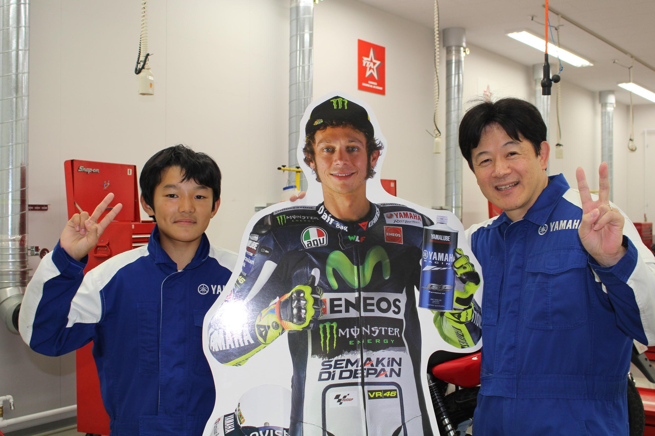 こちらは、ヤマハ親子バイク教室参加後、年に2回のミニバイク耐久レースに参加したという男の子。お父さんもロード系レースをやっているそう!「非常に楽しくあっという間の時間でした。貴重な体験ができて親子共々充実した日になりました!」