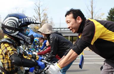 冬に負けじと走ります。親子バイク教室&大人のバイクレッスン成田で開催なり~!