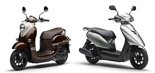 レトロポップなスタイルで人気の50ccスクーター「Vino」と、スポーティな外観で人気の50ccスクーター「JOG」がモデルチェンジしました。